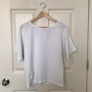 White Blouse with Button Detail in back